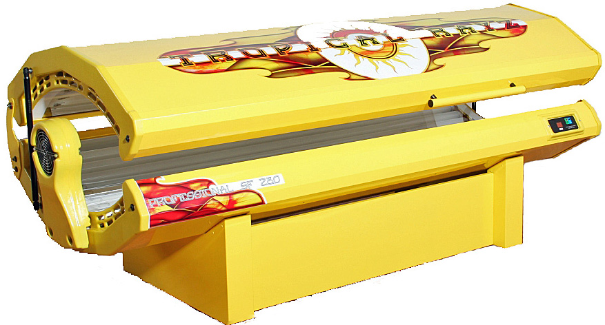 photo of a tropical rayz standard frame tanning bed